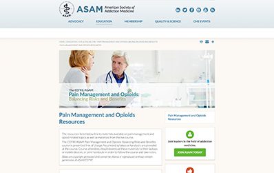 Evaluate Risks and Benefits of Opioid Therapies