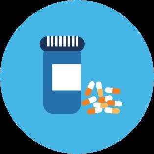 graphic of medicine bottle