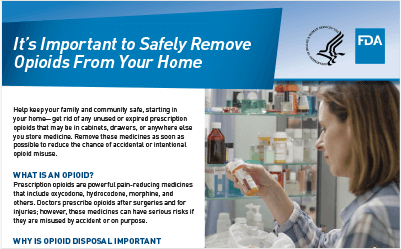 Safely Removing Opioids From the Home